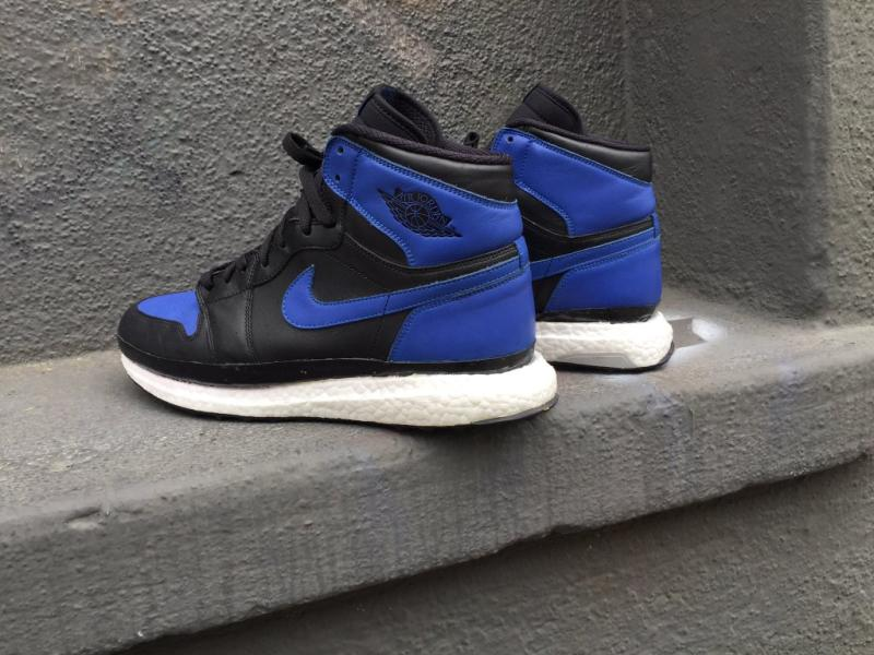 online retailer 22b33 a6e11 Air Jordan 1 Ultra Boost Custom by The Shoe Surgeon (2)