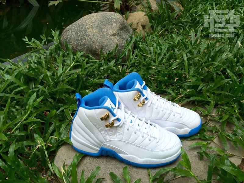 Air Jordan 12 GS White/Metallic Gold-University Blue | Sole Collector
