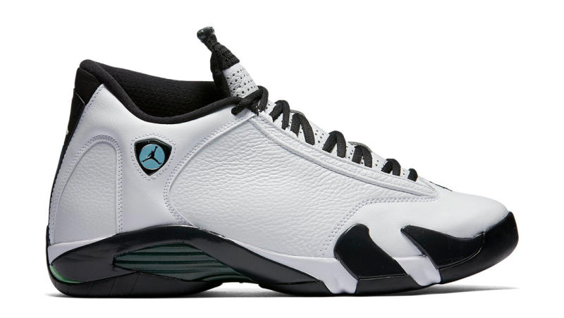 Air Jordan 14 Retro \u0026quot;Oxidized Green\u0026quot; Style Code: 487471-106\u200b Colorway: White/Black-Oxidized Green-Legend Blue-Metallic Silver\u200b Release Date: 07/16/2016