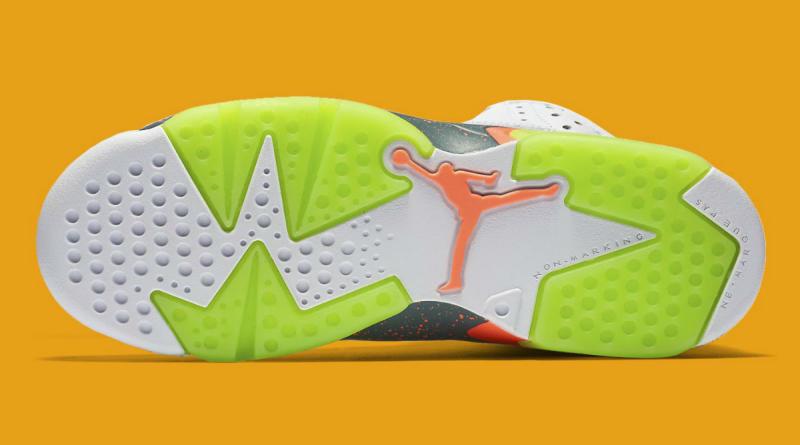 buy online a5cc5 6531e Air Jordan 6 Retro GS White Ghost Green-Hasta-Bright Mango 384665-