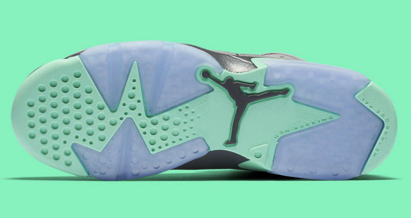 free shipping 8977b 3e4f7 Air Jordan 6 GG Green Glow 543390-005 (4)