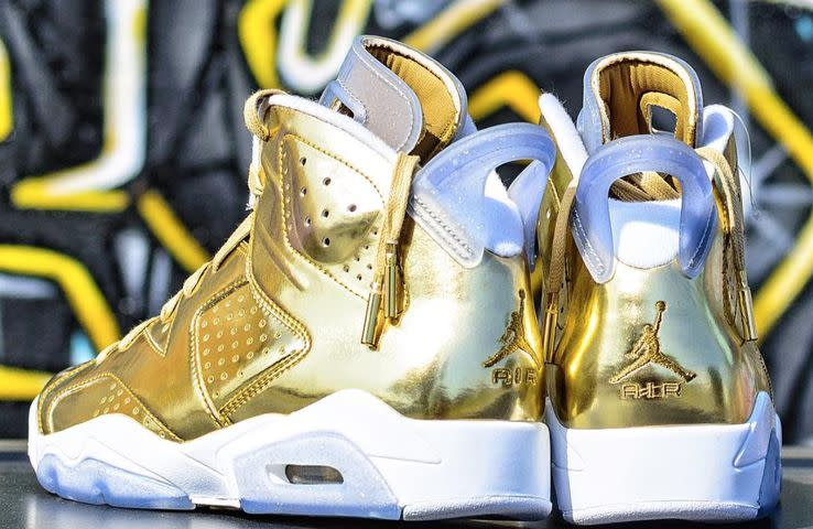 Golden Michael Jordan Kids Shoes