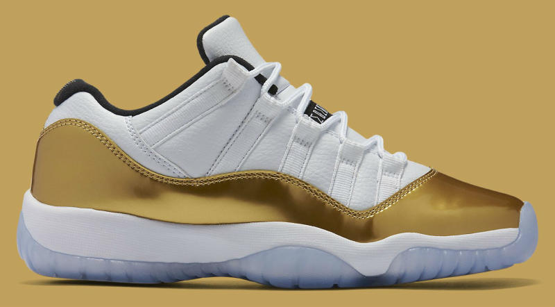 c4b58a76cd74f1 Air Jordan XI 11 Low White Gold 528896-103 (2)