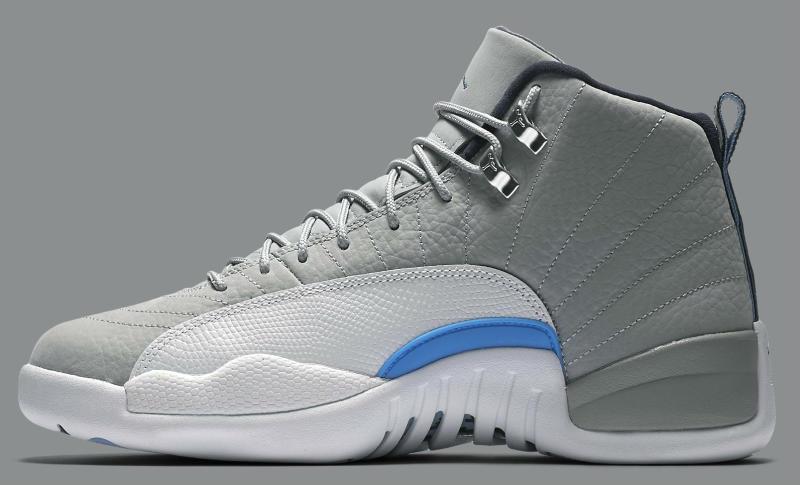 a7ca8330ee5c Air Jordan 12 Grey University Blue-White 130190-007 (3)