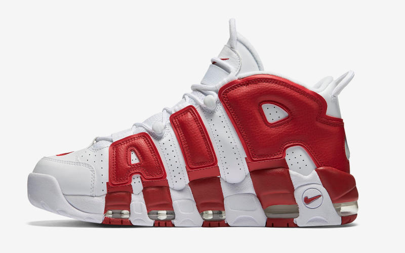 super popular e0917 343f2 Discount Nike Air More Uptempo Midnight Navy White Varsity Red