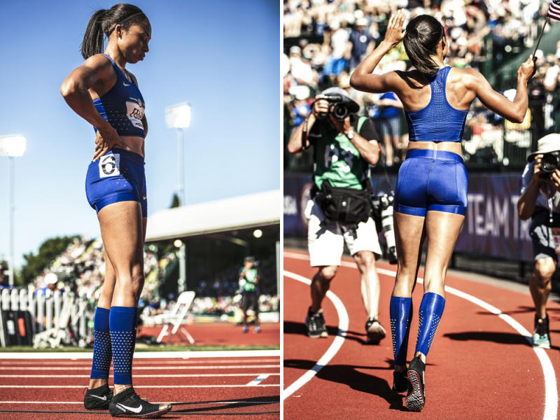 huge selection of f06bb 0f6f8 ... wholesale allyson felix nike gyakusou olympic trials spikes sole  collector 18397 39f9e