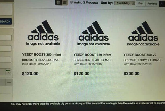 Baby Yeezy Prices