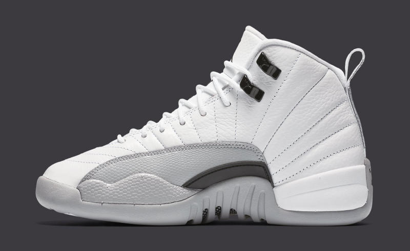 Air Jordan XII 12 White Grey-Black  dec9f899b