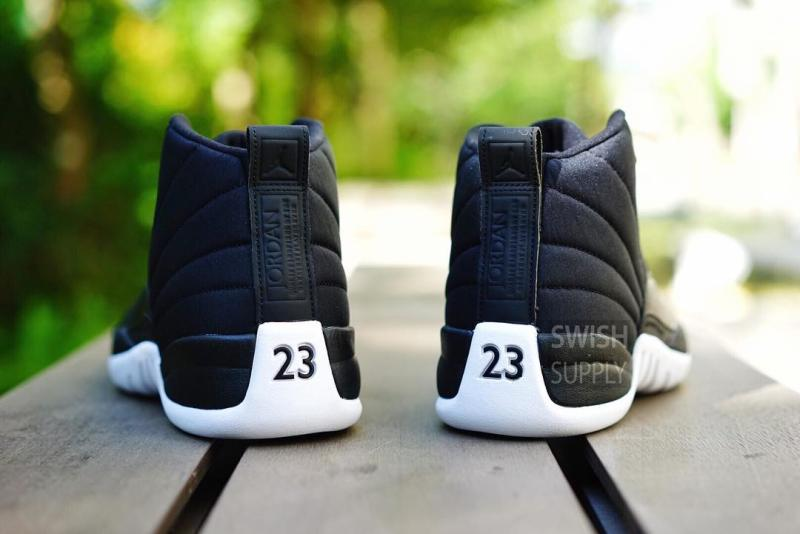 Air Jordan XII 12 Black Nylon Release Date 130690-004 (3)
