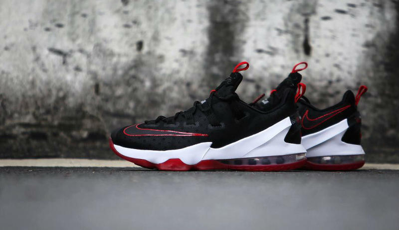 info for d07ee 8e6df Nike LeBron 13 Low Black Red (6)