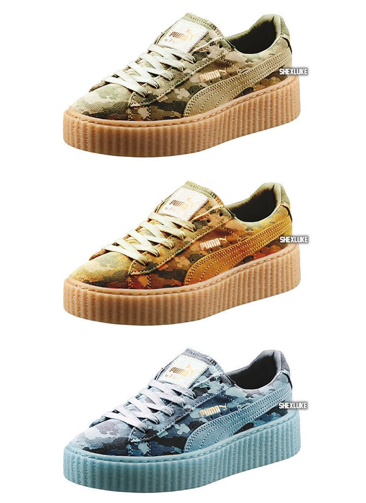 rihanna puma creeper camo sole collector. Black Bedroom Furniture Sets. Home Design Ideas