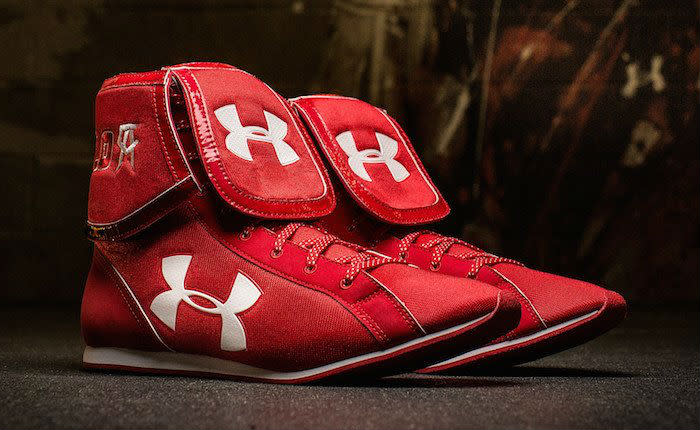 under armour boxing shoes. canelo alvarez\u0027s under armour boxing boots for amir khan (2) shoes