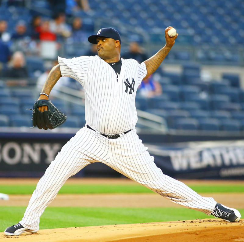 "C.C. Sabathia Wearing ""Playoff"" Air Jordan 12 Cleats"