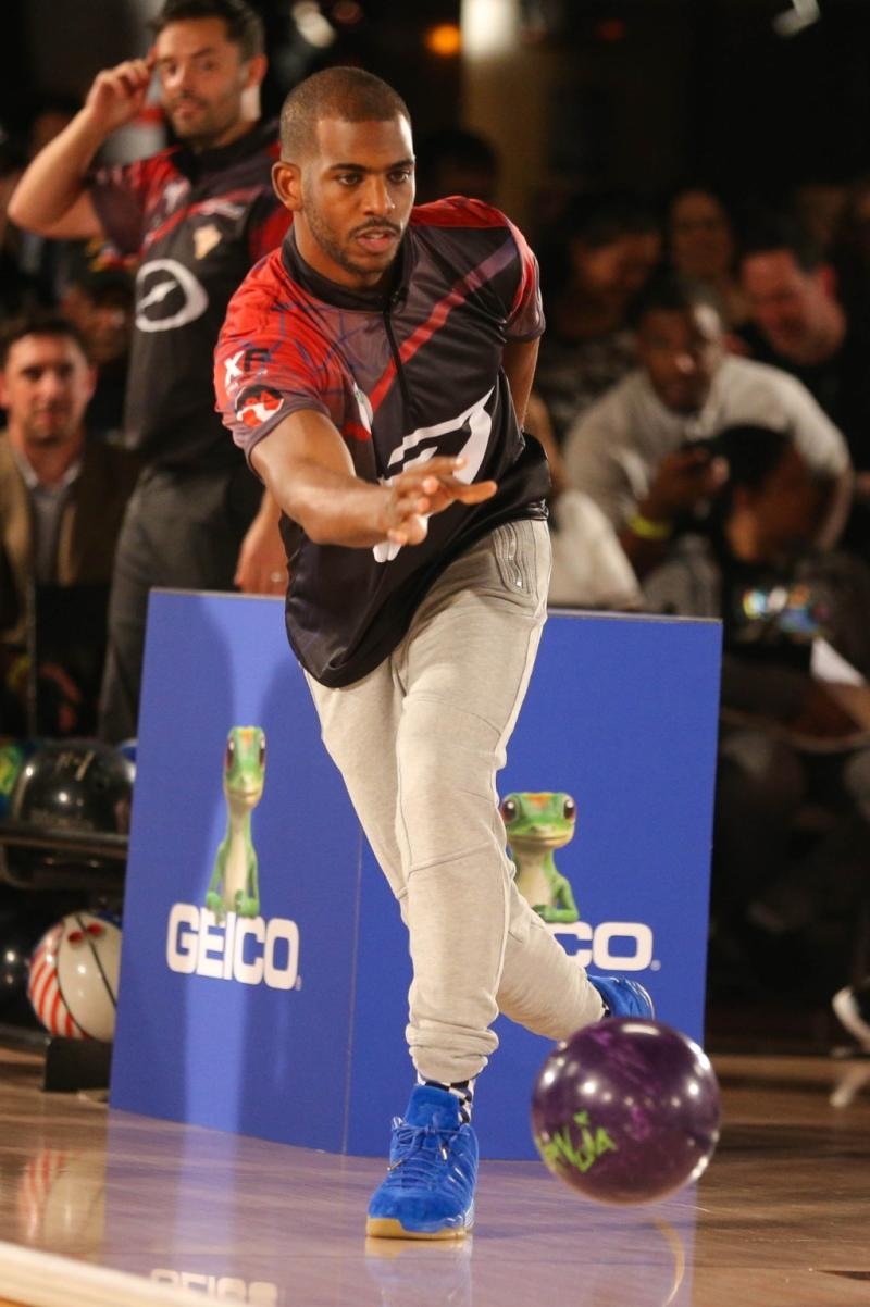 Chris Paul Bowling in the 'Blue Suede' Jordan CP3.IX (1)