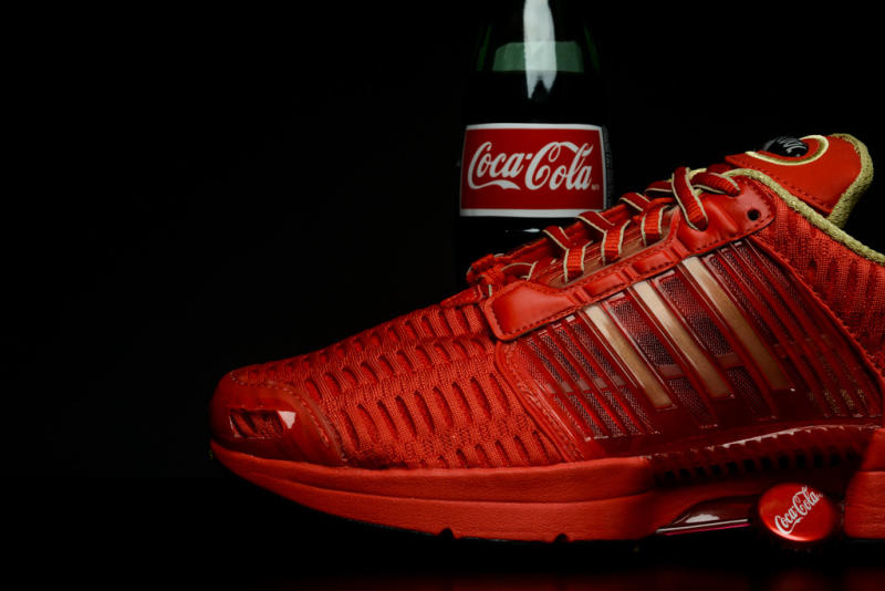ab014d97ffa The Coca-Cola x adidas Climacool is available now at retailers like Sneaker  Politics and Rock City Kicks (Coca-Cola sold separately).