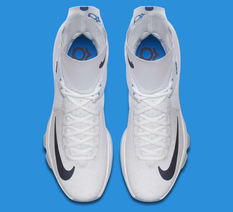 pretty nice 1a6d1 3566a Kevin Durant s Crazy Tall Sneakers for the Playoffs. A detailed look at the Elite  KD 8.