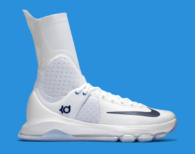 pretty nice dc629 135a9 Kevin Durant s Crazy Tall Sneakers for the Playoffs. A detailed look at the Elite  KD 8.