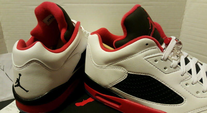 """Fire Red"" Jordan 5 Low 819171-101 (6)"