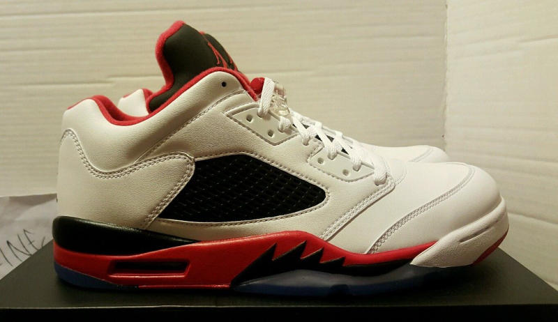 """Fire Red"" Jordan 5 Low 819171-101 (1)"