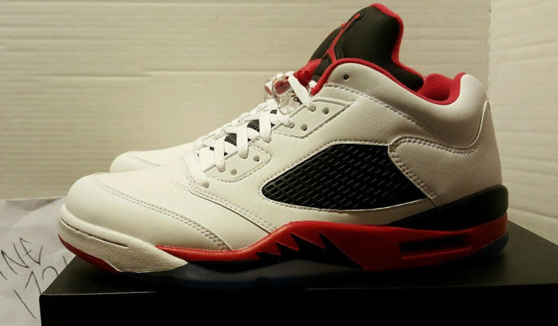 """Fire Red"" Jordan 5 Low 819171-101 (2)"