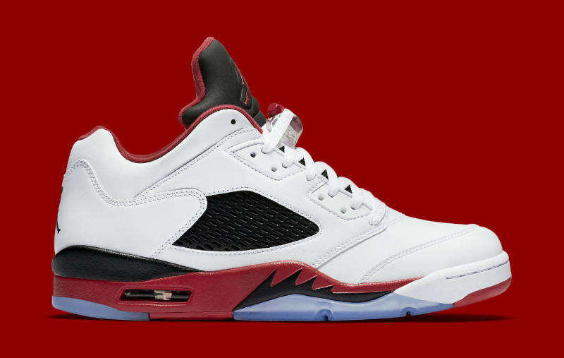 Jordan 5 Fire Red Low 819171-101 (2)