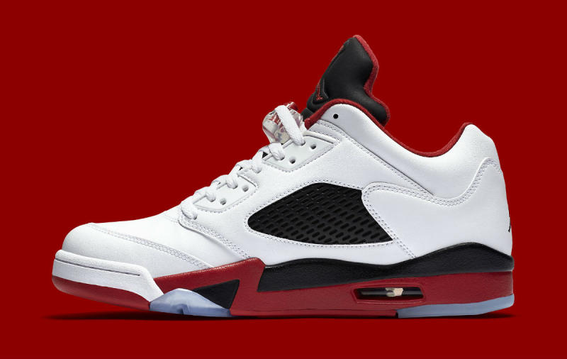 Jordan 5 Fire Red Low 819171-101 (3)