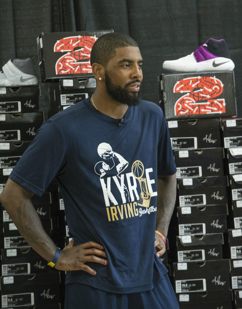Foot Locker Amp Kyrie Irving Donate 190 Pairs Of Sneakers To