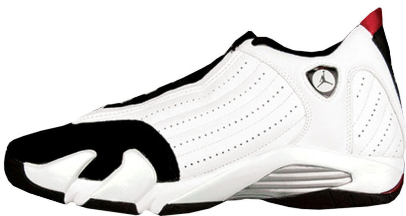 new product 6b9d8 8fdab Air Jordan 14 Retro  Black Toe  Style Code  311832-162. Colorway   White Varsity Red-Metallic Silver-Black Release Date  03 18 2006