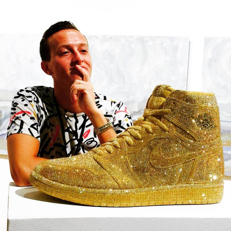 Gold Crystal Air Jordan 1 by Daniel Jacob (1)