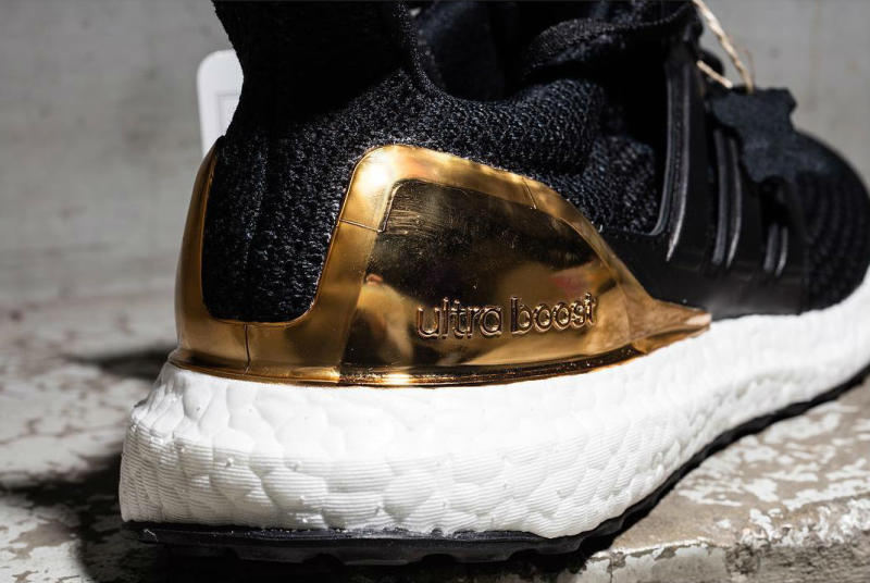 Adidas Ultra Boost Black Gold Sole Collector