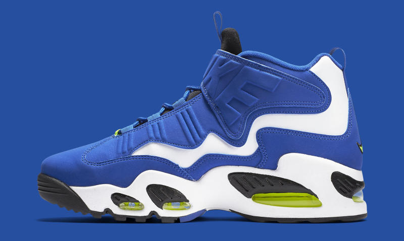 ee7d01685f Nike Air Griffey Max 1. Color: Varsity Royal/Black-White-Volt Style #:  354912-400. Price: $150