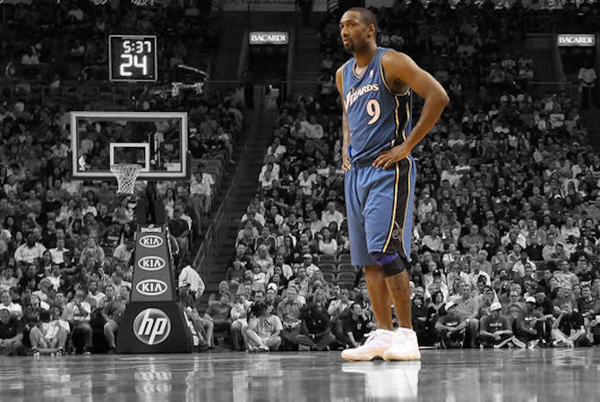 813f6a3ae38 How Gilbert Arenas' Unpredictable Sneaker Choices Changed the NBA Forever