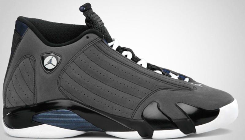 Air Jordan 14 Retro Light Graphite Navy Black shoes