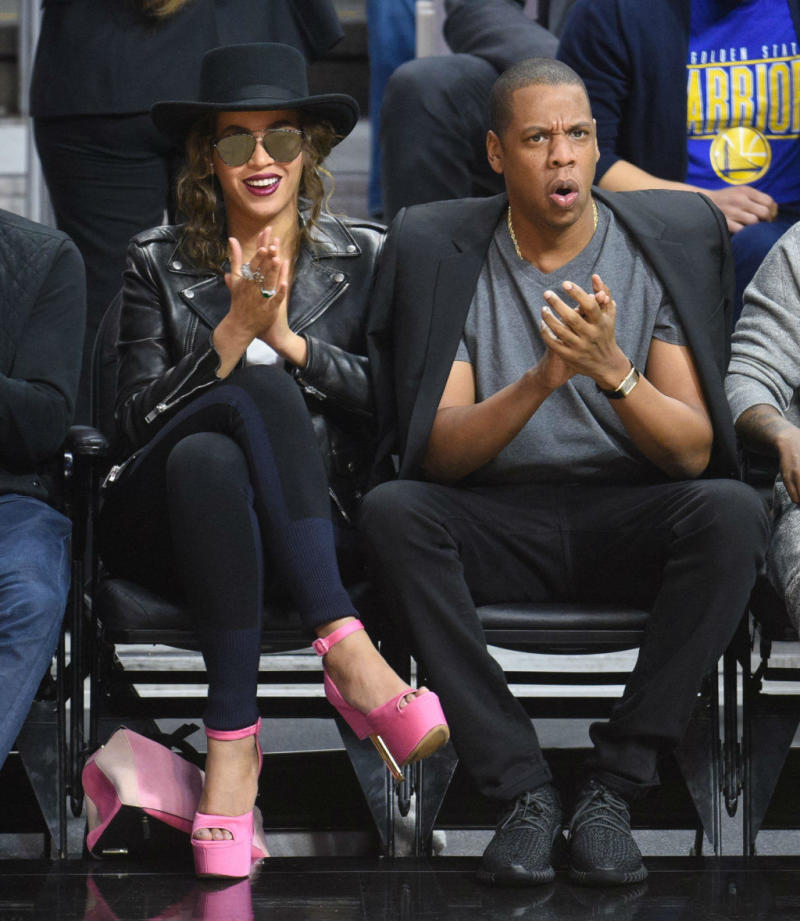 SoleWatch  Jay-Z Wore Yeezy Boosts to Watch the Warriors and Clippers 3b04c18a2