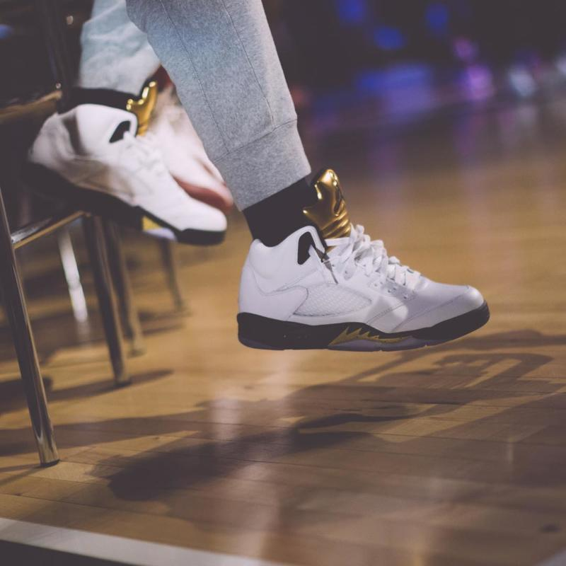 Jimmy Butler Wearing the Olympic Gold Medal Air Jordan 5 (2) 3b09c13fb