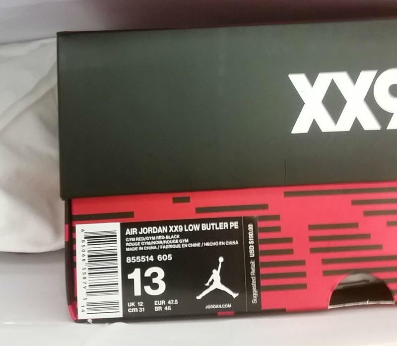 ff4ef3b55a0 Air Jordan XX9 Low Jimmy Butler PE 855514-605 (4)