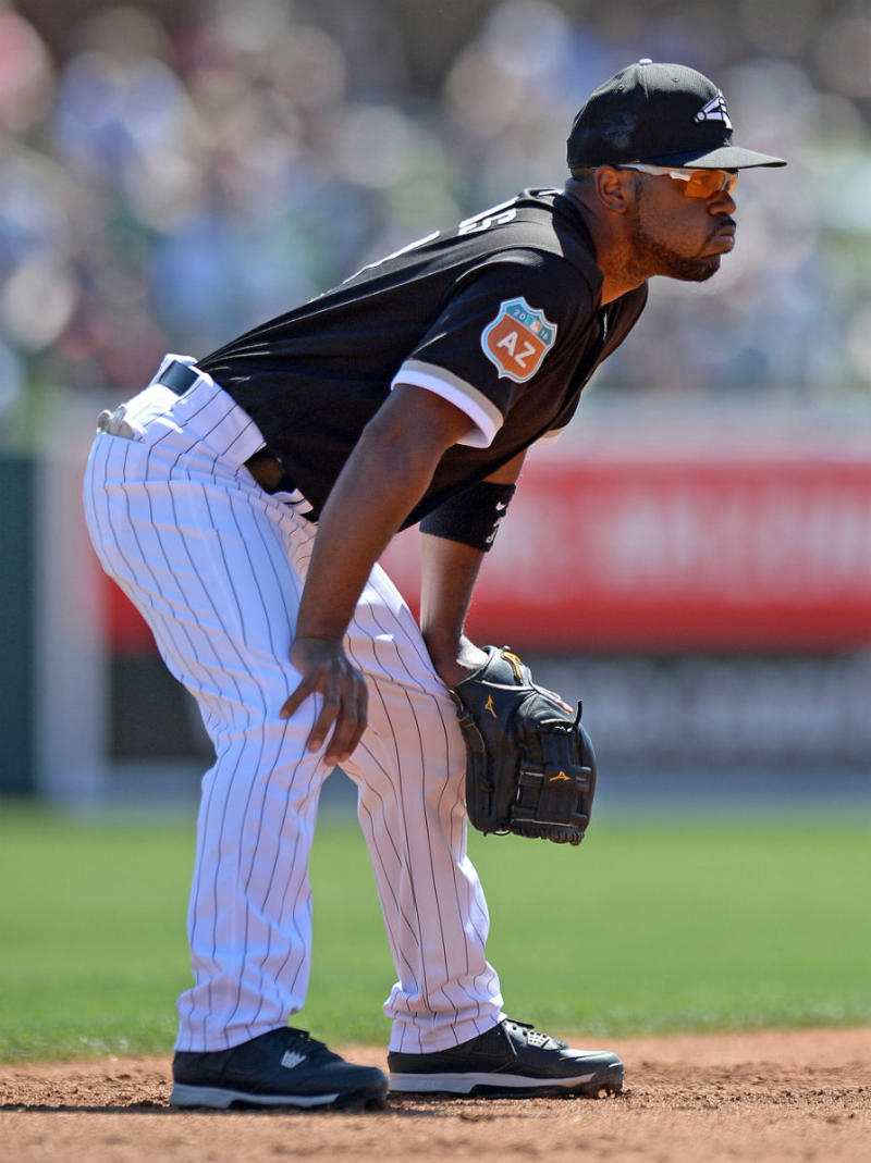 "Jimmy Rollins Wearing ""Oreo"" Air Jordan 4 PE Cleats"