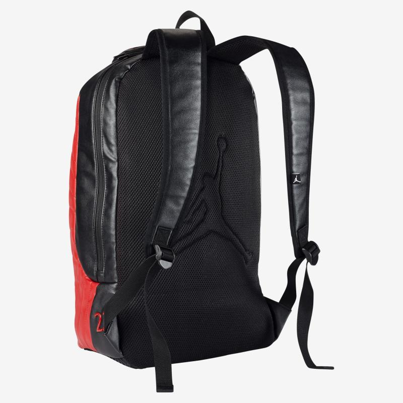 3728dbb9e9e4 red leather jordan backpack Sale