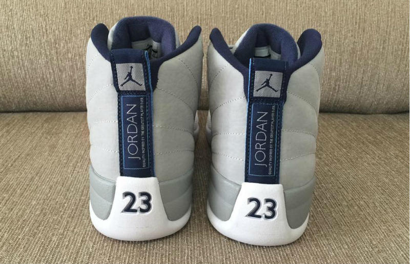 13ae972af7a8b7 Air Jordan 12 Grey University Blue-White 130190-007 (3)