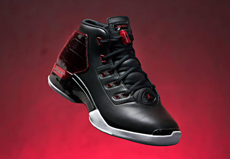 Air Jordan 17+ Black Red White Shoes