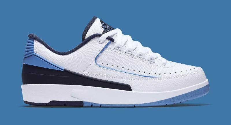 5aaebc154a4 Air Jordan 2 Retro Low Release Date: 06/11/16. Color: White/University Blue-Midnight  Navy Style #: 832819-107. Price: $160