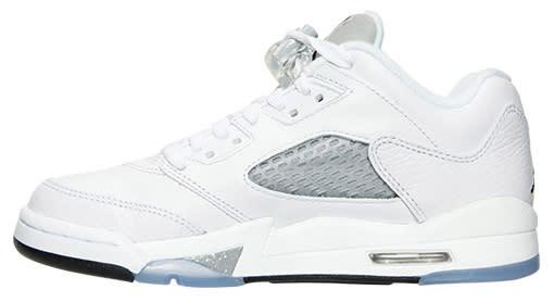 Air Jordan 5 Low Metallic 819172 122 White/Black Wolf Grey