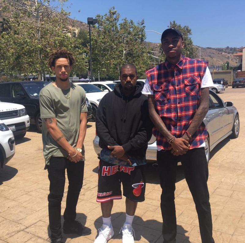 newest 53eb1 20d06 Kanye West Wears White adidas D Lillard 2 (2)