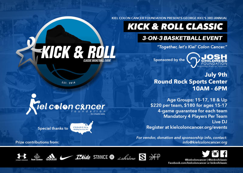 Kiel Colon Cancaer Kick & Roll Classic 2016
