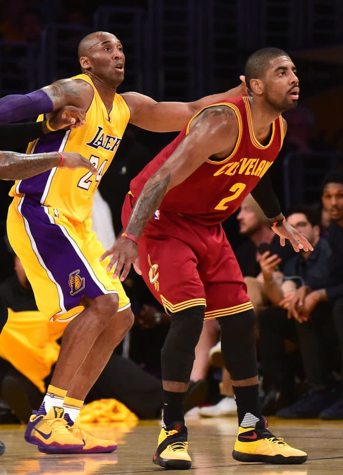 """Kyrie Irving Wears """"Bruce Lee"""" Nike Kyrie 2 