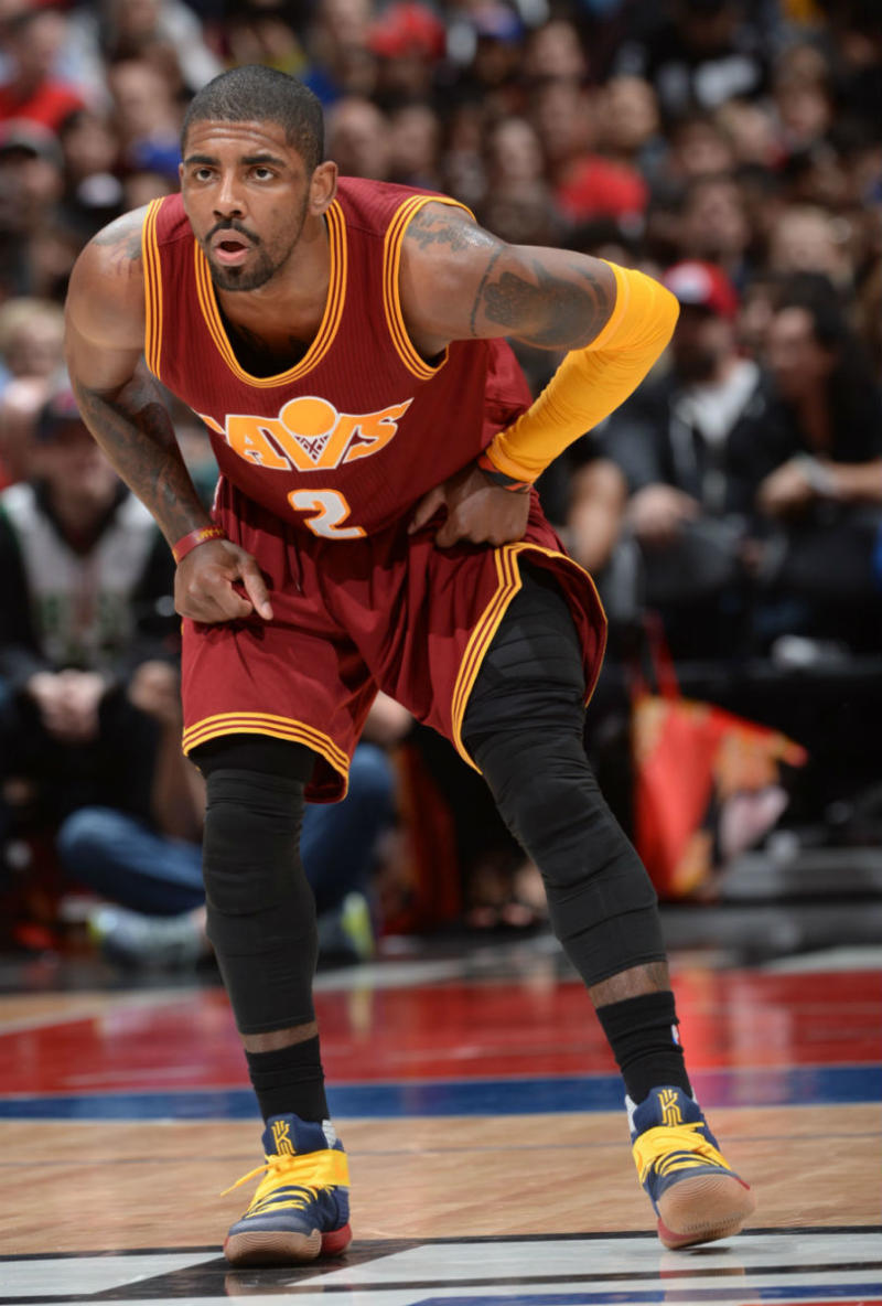 quality design d54f0 e35bf Kyrie Irving Wearing the