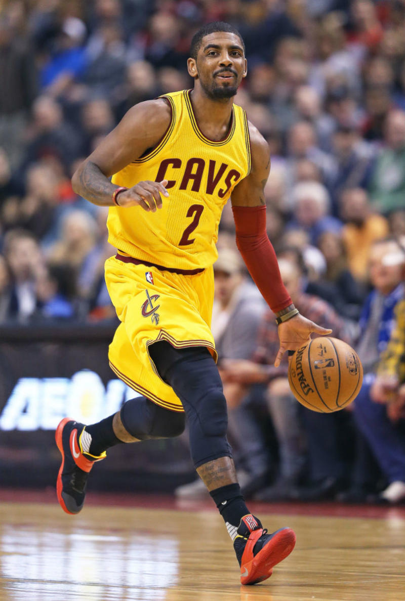 Kyrie Irving Wears Black/Red-Yellow Nike Kyrie 2 PE | Sole Collector
