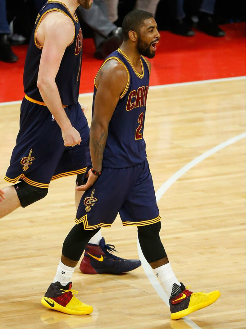 bc702daeebf ... new arrivals kyrie irving wearing a nike kyrie 2 black yellow red pe 4  0329c 34771