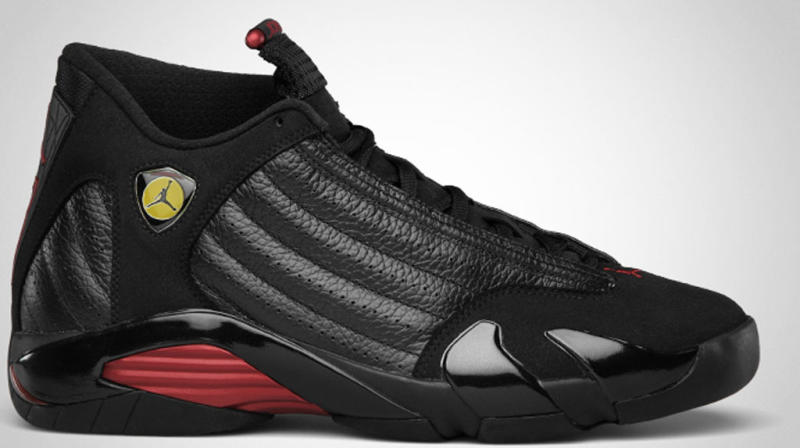 c6e50e13c40 Air Jordan 14 Retro 'Last Shot' Colorway: Black/Varsity Red-Black Release  Date: 12/17/2011. Original Price: $160. Average Resell Value: $385