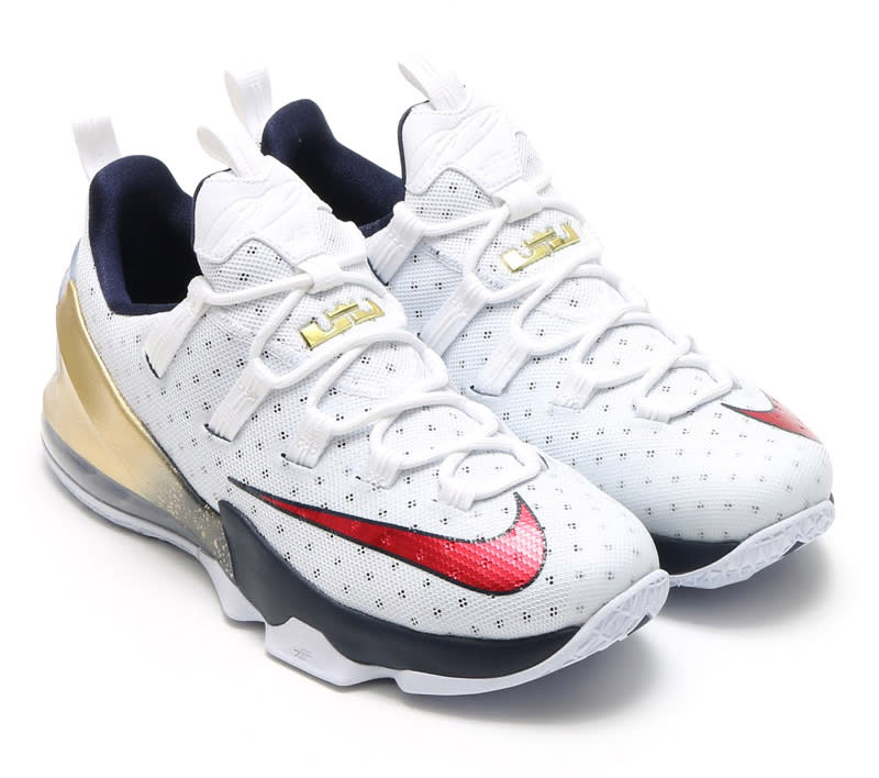 Another Red, White, and Blue Shoe for LeBron James. The Nike LeBron 13 Low  ...